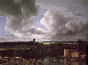 Jacob van Ruisdael Extensive Landscape with a Ruined oil painting reproduction