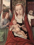 Master of the Saint Ursula Legend Virgin and Child with an Angel oil painting
