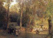 Oswald achenbach The park near the Roman oil painting