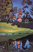 Vassily Kandinsky Red Church oil painting
