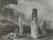 William Andrews Nesfield Stone circle,near Tormore,Arran oil painting