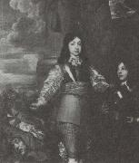 William Dobson Charles II as a boy commander oil painting