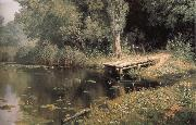 unknow artist Overgrown Pond oil painting reproduction