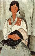 Amedeo Modigliani Gypsy Woman and Girl oil painting reproduction