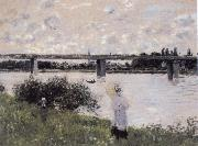 Claude Monet By the Bridge at Argenteuil oil painting reproduction