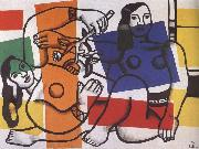Fernand Leger Two women with flowers in hand oil painting reproduction