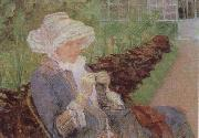 Mary Cassatt Lydia Crocheting in the Garden at Marly oil painting reproduction