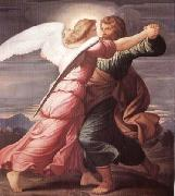 STEINLE, Edward Jakob von Jacob Wrestling with the Angel oil painting