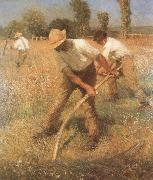 Sir George Clausen,RA The Mowers oil painting
