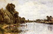 Stanislas lepine The Seine near Argenteuil oil painting