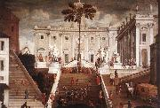 TASSI, Agostino Competition on the Capitoline Hill oil painting