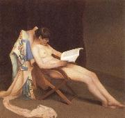 Theodore Roussel The Reading gril oil painting