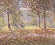 Wynford Dewhurst Luncheon on the Grass oil painting