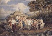 Joshua Cristall Nymphs and shepherds dancing (mk47) oil painting reproduction