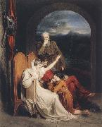 Richard Westall Queen Judith reciting to Alfred the Great (mk47) oil painting