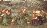Sir Edward Coley Burne-jones,Bart.,ARA,RWS Green Summer (mk46) oil painting