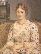 Sir Edward john Poynter,Bart.PRA,RWS Portrait of Mrs j.p.Heselitine (mk46) oil painting