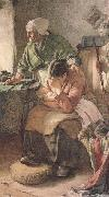 Walter Langley,RI But Men must work and Women must weep (mk46) oil painting