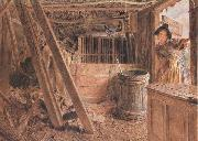 William Henry Hunt,OWS The Outhouse (mk46) oil painting