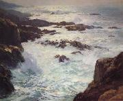 William Ritschel Our Dream Coast of Monterey,aka Glorious Pacific,n.d. oil painting