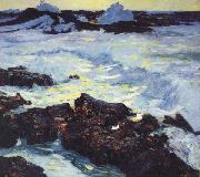 William Ritschel Purple Tide oil painting