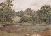 Wilmot Pilsbury,RWS Landscape in Leicestershire (mk46) oil painting