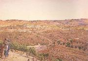 william holman hunt,o.m.,r.w.s The Plain of Rephaim from Mount Zion (mk46) oil painting