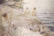 Anders Zorn ute oil painting reproduction