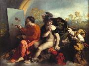Dosso Dossi Jupiter, Mercury and Virtue oil painting reproduction