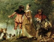 Jean antoine Watteau avfarden till kythera oil painting reproduction