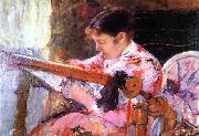 Mary Cassatt Lydia at the Tapestry Loom oil painting reproduction
