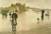 Norman Garstin The Rain it Raineth Every Day oil painting