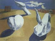 Paul Nash nocturnal landscape oil painting