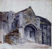 Thomas Girtin the tihe barn abbotsbuy oil painting
