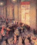 Umberto Boccioni a fight in the arcade oil painting