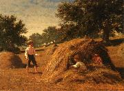 William Bliss Baker Hiding in the Haycocks oil painting