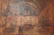 Wyke Bayliss Notre Dame Chapel oil painting
