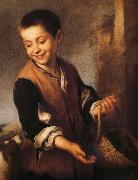 Bartolome Esteban Murillo Juvenile and Dogs oil painting reproduction