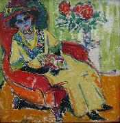 Ernst Ludwig Kirchner Sitting Woman oil painting