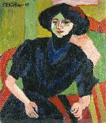 Ernst Ludwig Kirchner Portrait of a Woman oil painting