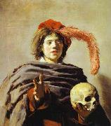 Frans Hals Youth with a Skull oil painting reproduction