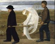 Hugo Simberg The Wounded Angel from 1903, oil painting