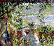 Pierre-Auguste Renoir By the Water, oil painting reproduction
