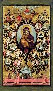 Simon Ushakov Praise to Icons of Virgin Mary of Vladimir. oil painting
