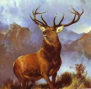 Sir edwin henry landseer,R.A. Monarch of the Glen by Sir Edwin Landseer oil painting