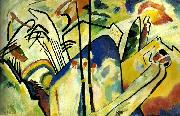 Wasily Kandinsky composition iv oil painting