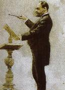 johannes brahms dvorak conducting at the chicago world fair in 1893 oil painting reproduction