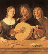 Giovanni Lanfranco Lute curriculum has five strings and 10 frets oil painting reproduction
