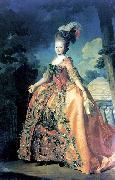 Alexander Roslin Portrait of Grand Duchess Maria Fiodorovna at the age of 18 oil painting