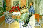 Carl Larsson syskon oil painting reproduction